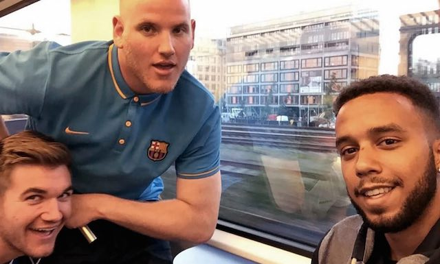 Twitter-3 heroes-on train-Anthony Sadler