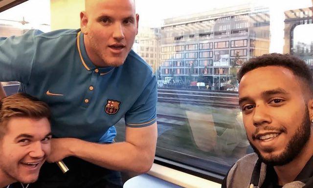 Twitter-3 heroes-on train-Anthony Sadler