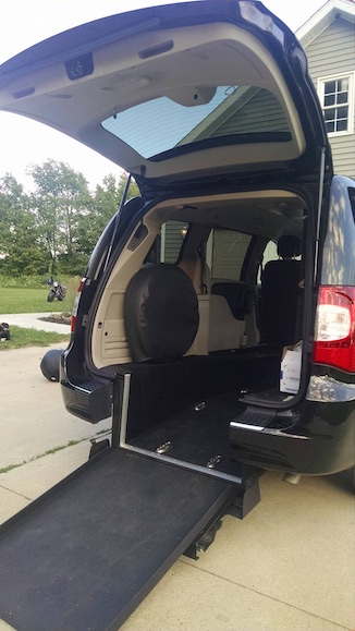 Wheelchair accessible van Facebook Michelle Garn