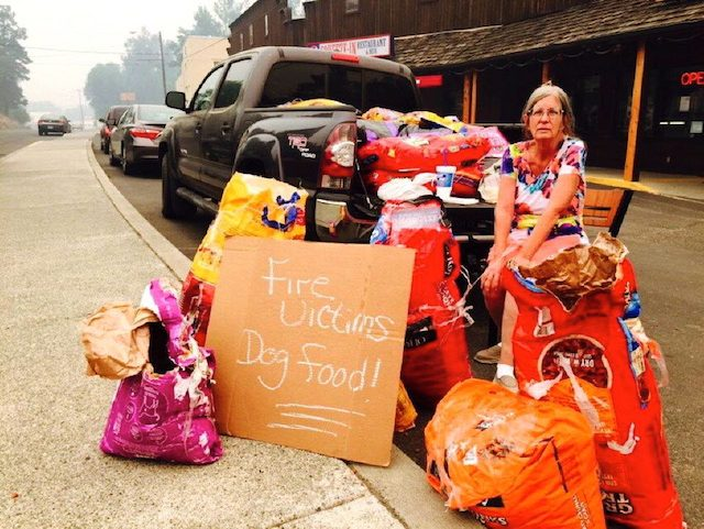 dog food for fire victims PAWS Oregon submitted
