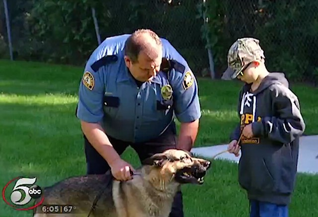 Ethan Green and Police Dog Screenshot KSTP