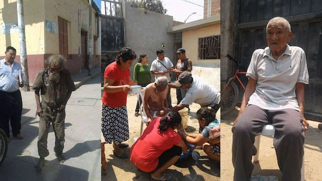 Homeless man community makeover Provincial Municipality of Ferreñafe Facebook