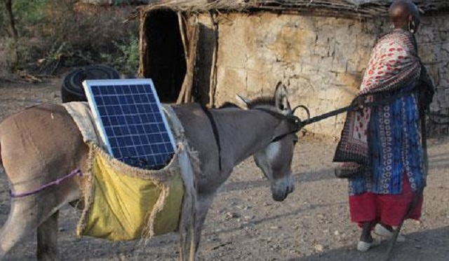 Maasai woman solar panel FB CCTV Africa