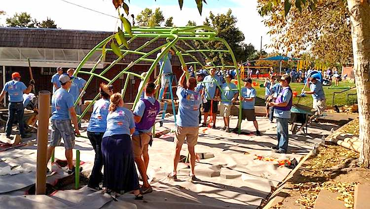 Playground for Shelter Kids Is Ready in One Day As ...