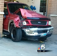 Roberta Slang suv damaged screenshot KXAS
