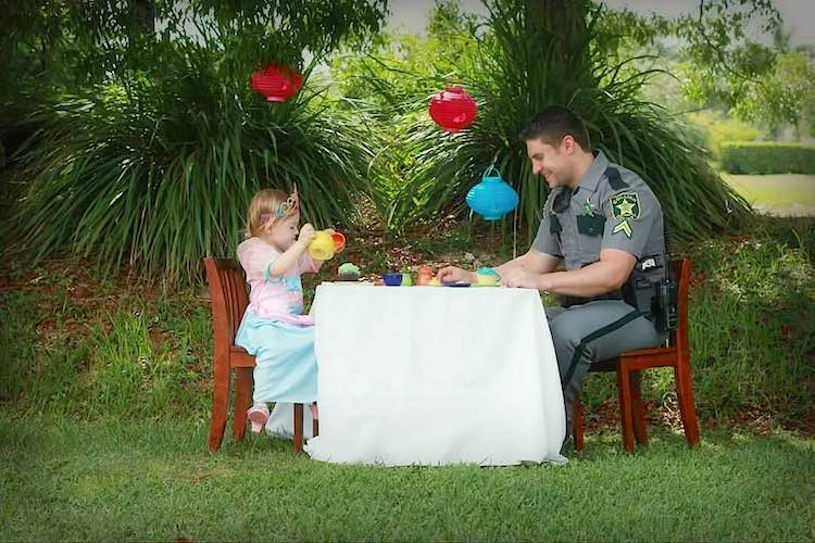 Tea party with cop FB Collier County Sheriff Office