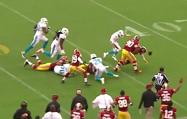 fumble Dolphins Redskins screenshot CBS