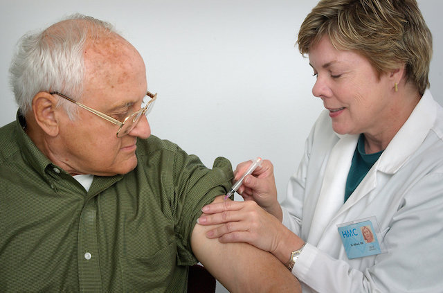 nurse middle-aged-man vaccination Public Health Image Library CDC