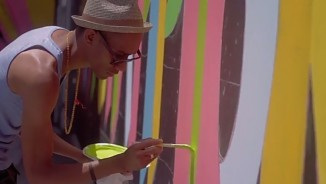 volunteer painting jordan high school takepart video screenshot