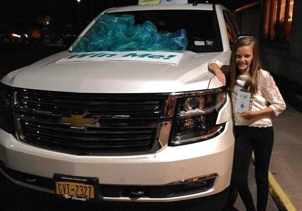 Erin Byrnes won SUV by Jeanie Byrnes