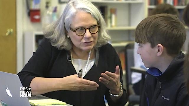 Nancie Atwell Global Teacher Award screenshot PBS