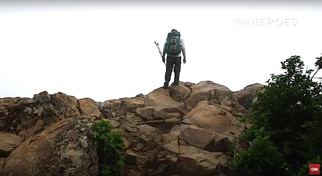 Sean Gobin CNN Hero Warrior Hike screenshot CNN