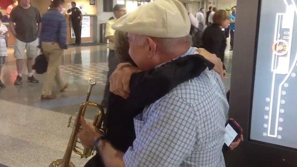 austin-airport-trumpet-reunion-FBvideo