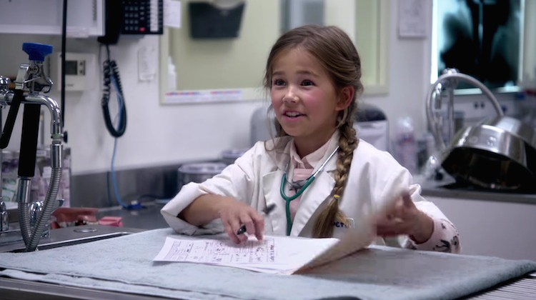 girl veterinarian barbie ad mattel screenshot