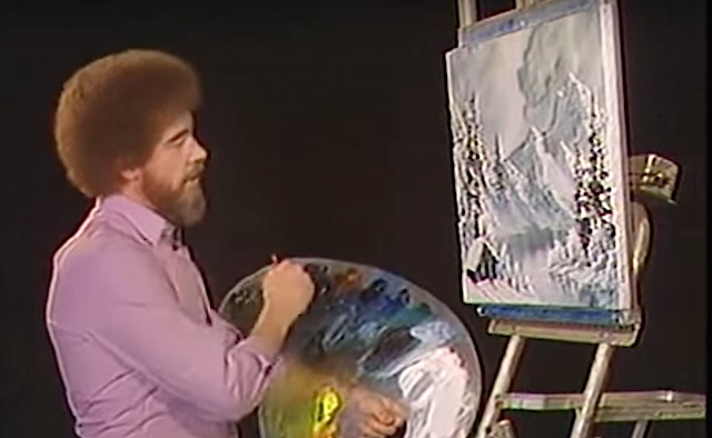 joy of painting shades of gray screenshot Bob Ross PBS