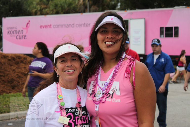 women breast cancer walk CC theSuperStar