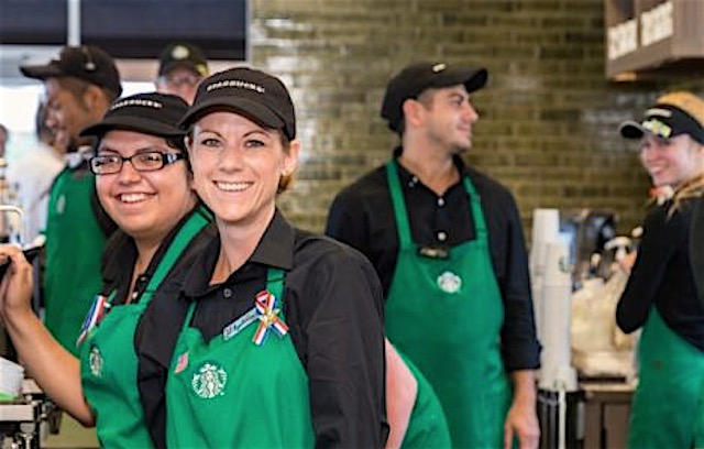 Barristas pose released Starbucks