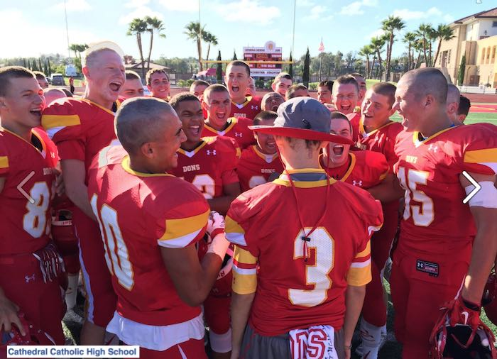 Cathedral Catholic High School-FB-football-shave-solidarity