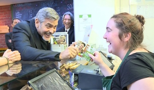 Clooney Social Bite (3) screenshot ITV News