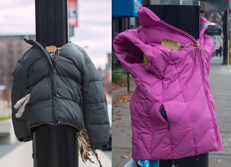 Coats on Lamp posts Facebook Halifolks