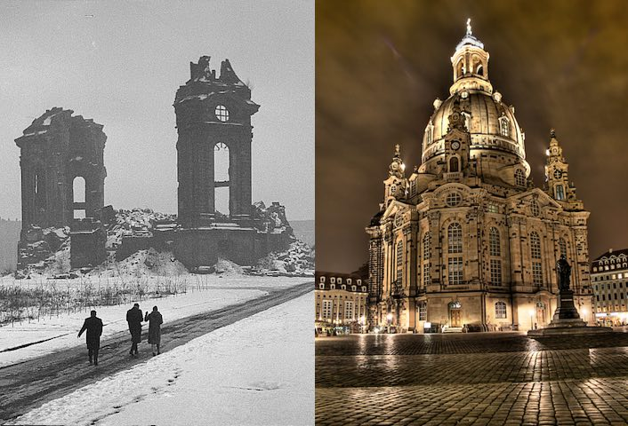 the remarkable dresden church rises from ashes of wwii bombing. Black Bedroom Furniture Sets. Home Design Ideas