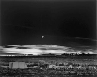moonrise-over-hernandez-new-mexico-ansel-adams