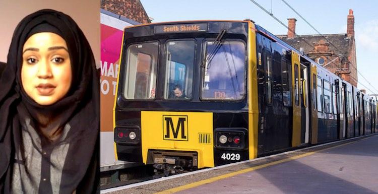 Muslim Woman Tyne and Wear Metro Facebook Ruhi Rahman and CC Ed Webster