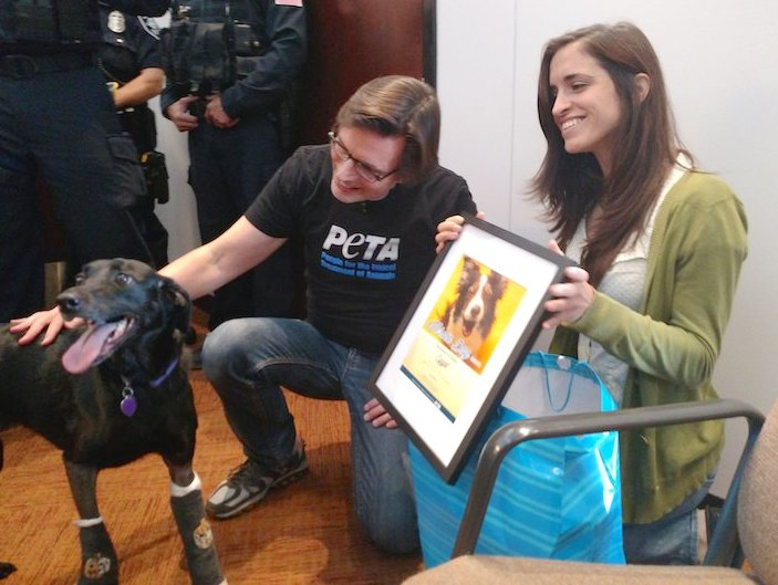 egypt dog and owners hero award peta submitted