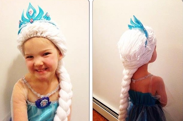 Crochet Community Piles On Yarn To Make Princess Wigs For