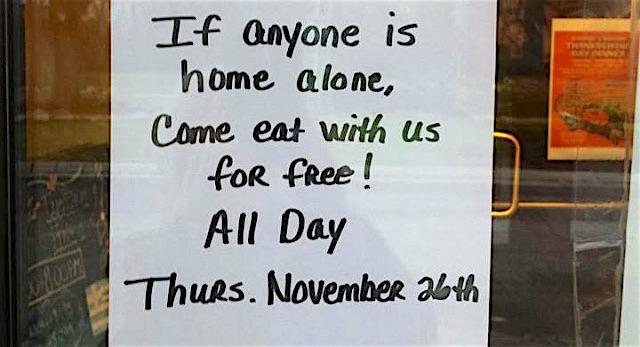 restaurant free food Thanksgiving Imgur RhymingIsFun