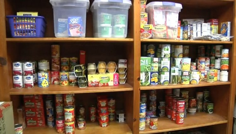 washington high school food pantry WNCET video screenshot