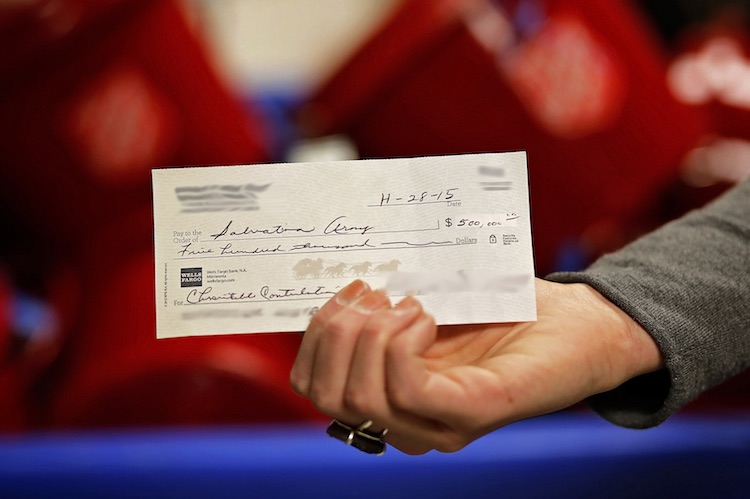 500K Check in Kettle released Salvation Army