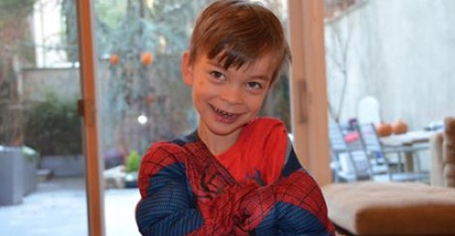 Brad Aronson submitted his boy in spiderman costume