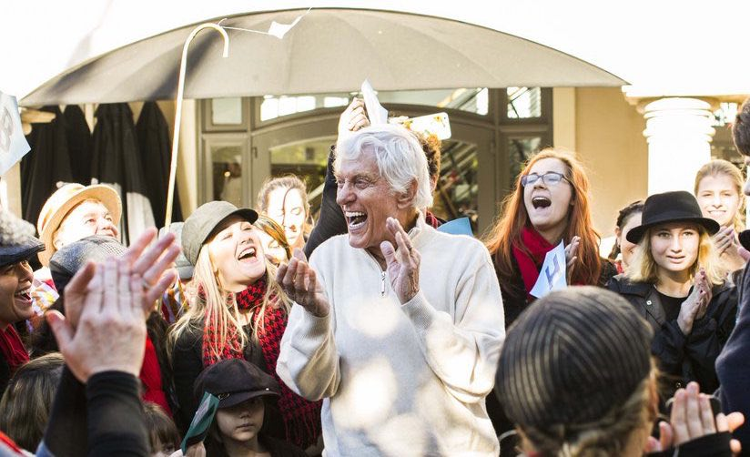 Dick Van Dyke-90-flashmob-permission-Nicola Buck-social links required