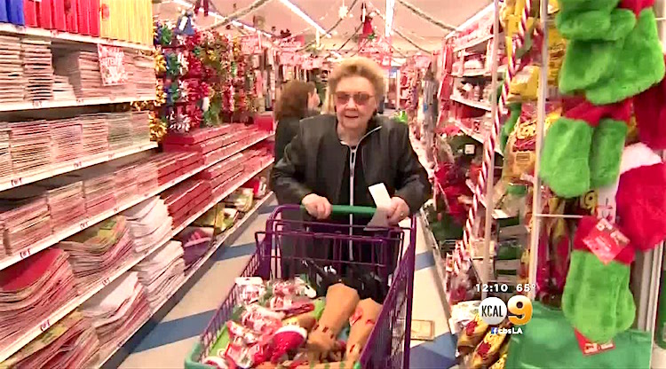 Donna Goldstein shopping spree screenshot KCAL