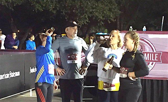 Granny runs beer mile Facebook FloTrack Beer Mile World Championships