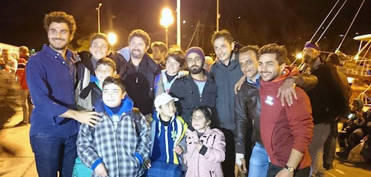 Ibrahim Bayzed-syrian-in-Greece-group-shot-PappasPost permission