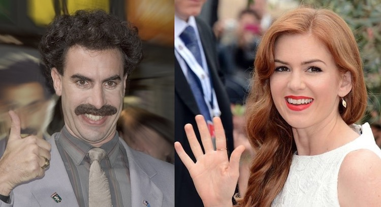 Sacha Baron Cohen and Isla Fisher CC Skssoft CC Georges Biard