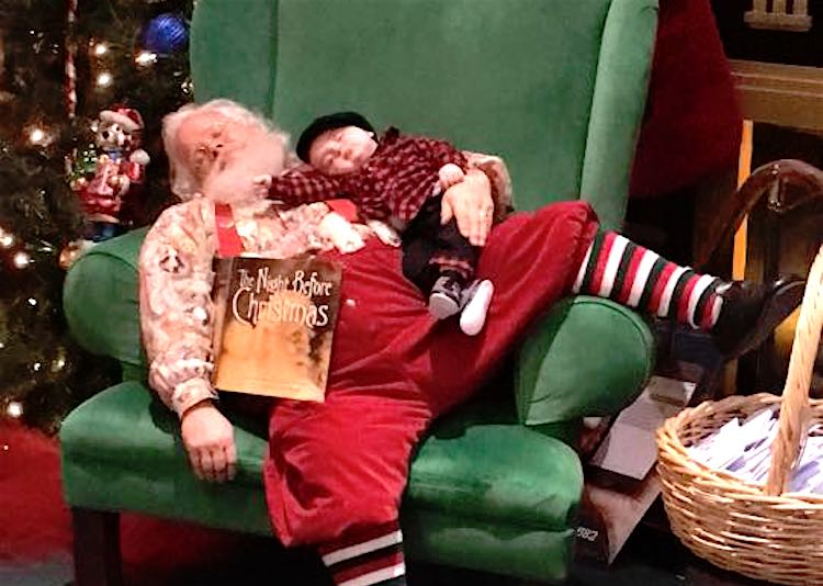 Sleeping Santa with Baby Facebook Donnie's Daddy Day Care