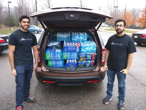 Ahmadiyya Muslim Youth Association members in Flint, MI -submitted by Mahir Osman