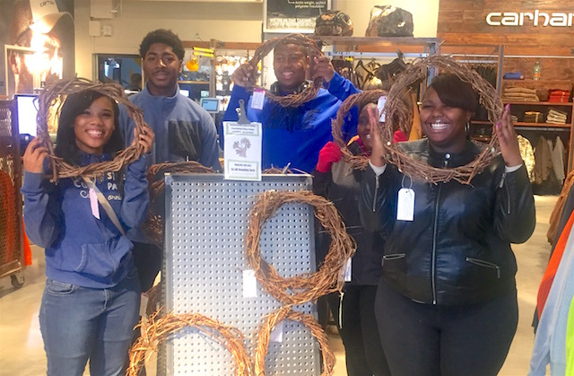 Detroit Students wreaths released Hantz Foundation