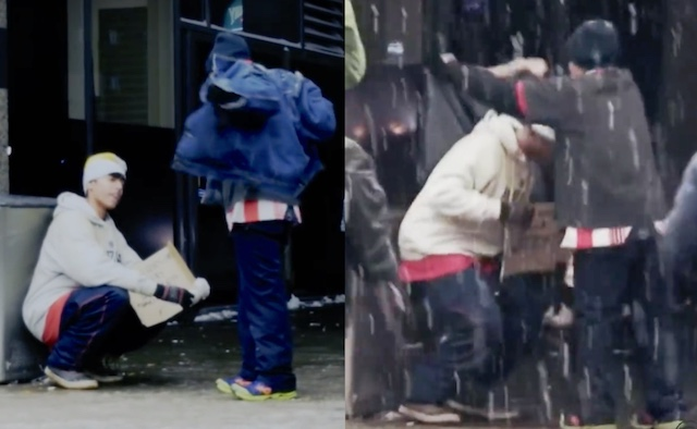Homeless Man Coat screenshot MTL Cinema