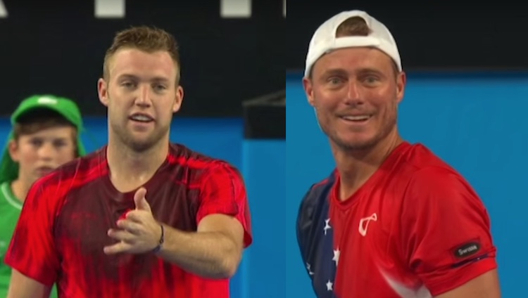 Jack Sock and Lleyton Hewitt screenshot Hopman Cup