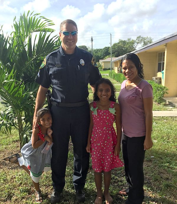 Officer Hanning with Andino Family-submitted