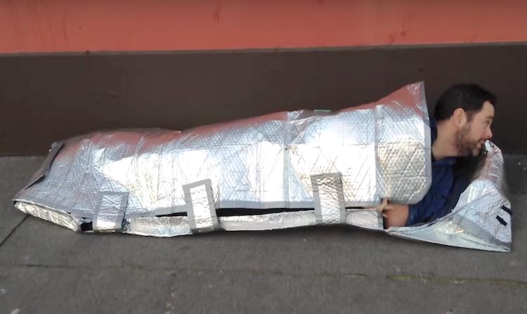 Sleeping bag for homeless screenshot TheJournal