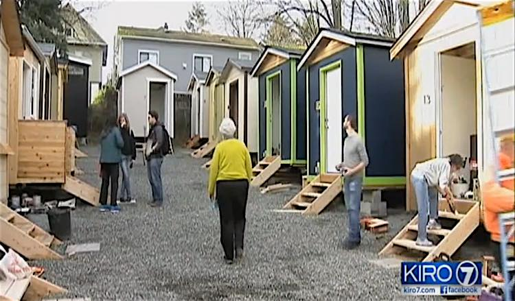 tiny house seattle. Tiny House Village Seattle Screenshot KIRO