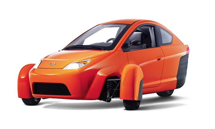 3 wheel 84mpg car released Elio Motors