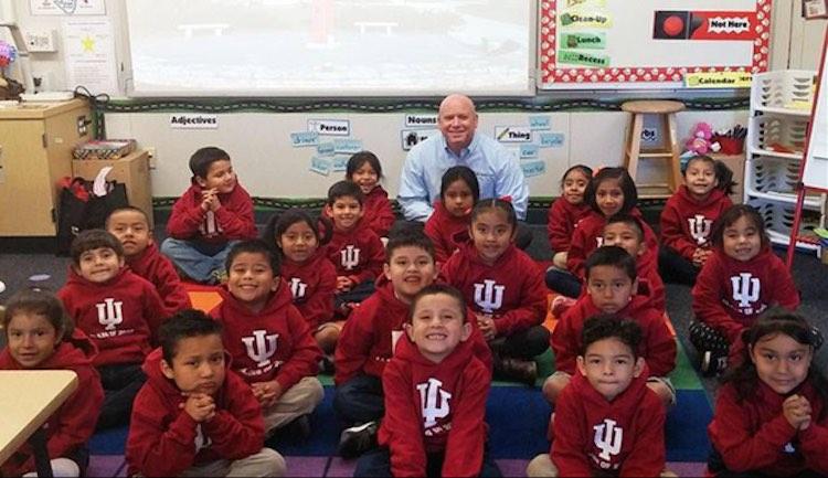 Anaheim classroom gets free college-Marty Burbank-schoolphoto