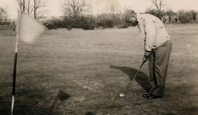 Bill Powell-golf-1940s family photo