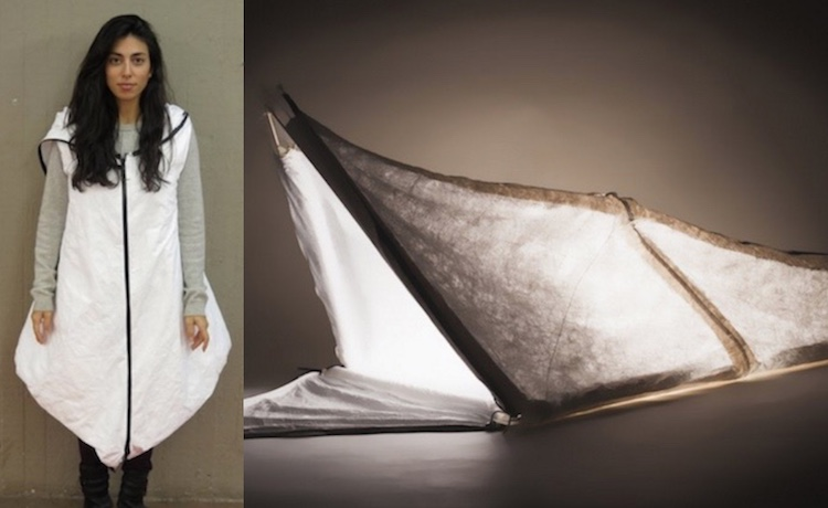 Students Design Refugee Coat that Becomes Tent Sleeping Bag  sc 1 st  Good News Network & Students Design Refugee Coat that Becomes Tent Sleeping Bag ...